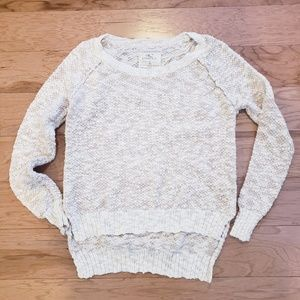O'Neill High low split Hem Marled Knit Sweater Med
